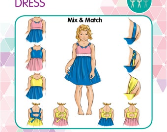 PATTERN Amor Dress - PDF Sewing Pattern - Instant Download - Tadah Patterns