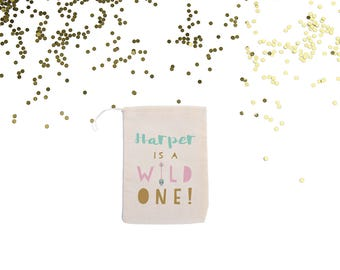 Wild One Boho {set of 10} Personalized 1st Birthday Party Favor Bags