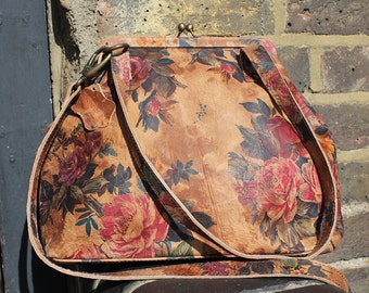 Half-Maya Clip Bag Floral 14 Leather