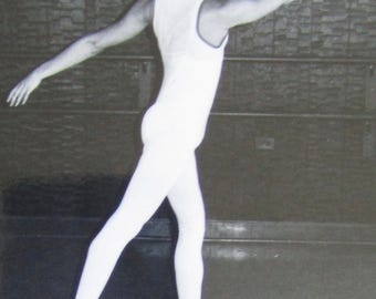 Original 1950's Male Ballet Dancer Snapshot Photograph - Free Shipping