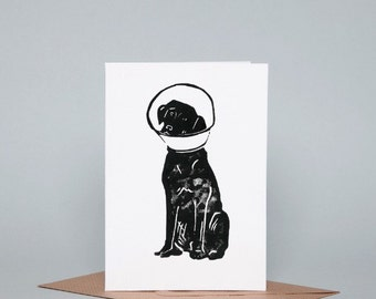 Get Well Soon Dog Greeting Card