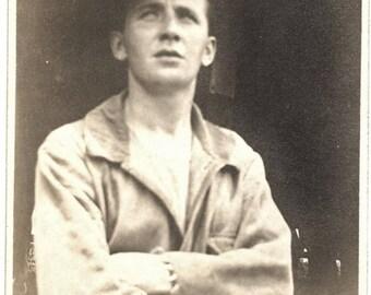 Vintage Snapshot Photo ~ handsome WWI era Soldier