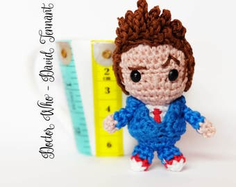 Doctor Who amigurumi doll keychain crochet - David Tennant 10th doctor