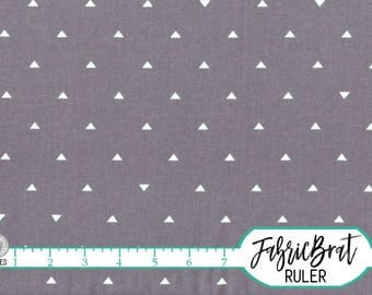 GRAY TRIANGLE Fabric by the Yard, Fat Quarter Geometric Triangle Fabric Gray Fabric Apparel Fabric 100% Cotton Fabric Quilting Fabric a4-11