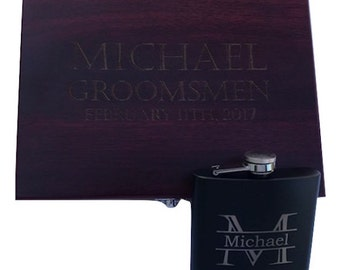 Personalized Flask, Engraved Flask, Flask, Gift for Him, Groomsmen Gift, Cool Groomsmen Gift, Flask Gift Set, Dad Gift, Boyfriend Gift