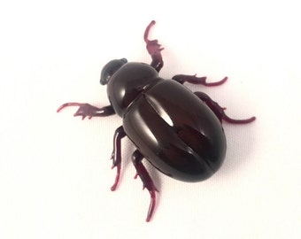 Brown Beetle - borosilicate glass sculpture