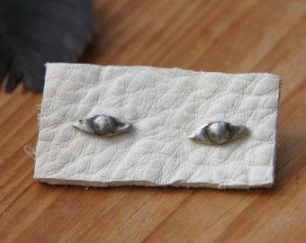 EYE stud earrings sterling silver  all seeing eye studs protecting eye