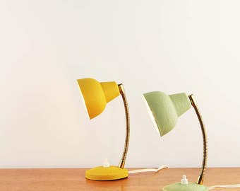 Pair of french mid-century bed lamps by Aluminor - Made in France - ca. 1950s