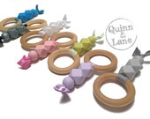 Mini Molar Muncher Teething Ring - Baby Toy - Silicone Beads - Chewing Beads - Chew Jewelry Beads - Chew Toy Beads - Choose Colors