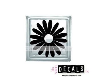 Flower (Daisy) -Farm and Garden Vinyl Lettering for Glass Blocks - Craft Decals