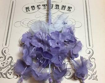 Vintage millinery purple flower spray