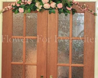Pink 1.25mt Peony Wedding Arbor Arch or Bridal Table Decoration Silk Flower Artificial Floral Wedding, peonies, blush
