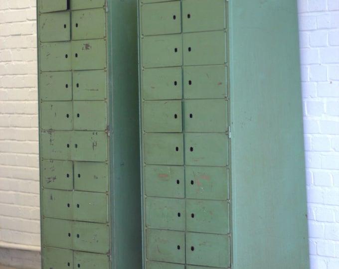 Mid Century Industrial Pigeon Hole Lockers Circa 1950's