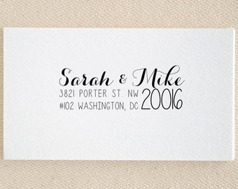 Personalized Address Stamp - Custom Stamp - Self Inking Stamp - Custom Rubber Stamp - Personalized Return Address Stamp RE865