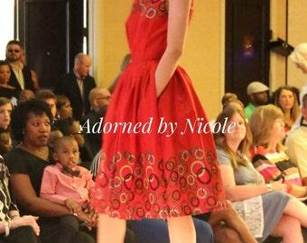 Circles and Red Waxprint Dress