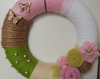 Wreath Spring Doorhanger