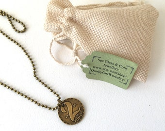 28th, 34th, 35th or 36th birthday gift, Unusual coin necklace, 1981, 1982, 1983 or 1989 coin from Hungary, gift for him, dog tag necklace