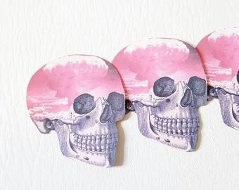 Skull Sticker Atomic Cloud Pastel Goth Sticker Laptop Sticker Planner Sticker Cute Stationary