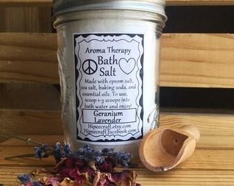 Bath Salt - Natural Bath Salt - Epsom Salt Sea Salt Essential Oils - Aroma Therapy Bath Salts