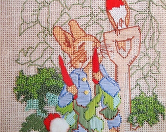 The Art Of Beatrix Potter By Paragon Needlecraft Vintage Ribbon And Floss For Counted Thread Embroidery Pattern Booklet 1984