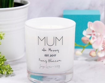 Mum  Scented Candle - Scented candle for mum - Mothers day home gift - Mother's Day Candle - Candle for mum - Birthday gift for mum