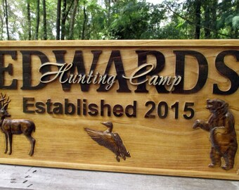 Personalized Family Name Signs Established Sign Custom Wedding Gift 50th anniversary gifts Turkey Hunter Custom 3D Name Sign Rustic Signs