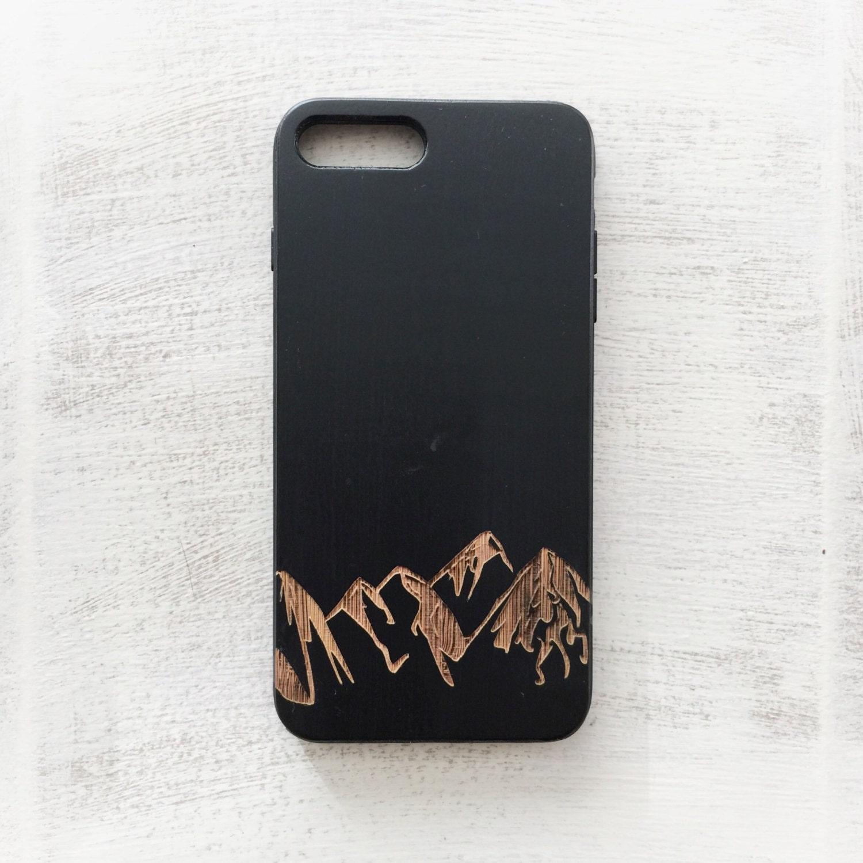 iphone 8 case wood mountain range phone case wooden iphone 7. Black Bedroom Furniture Sets. Home Design Ideas