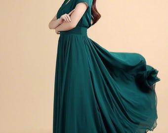 Teal maxi dress | Etsy