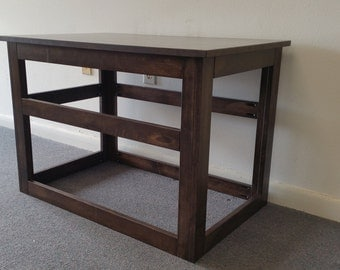large wooden cover for wire crate for dog or cat end table night stand