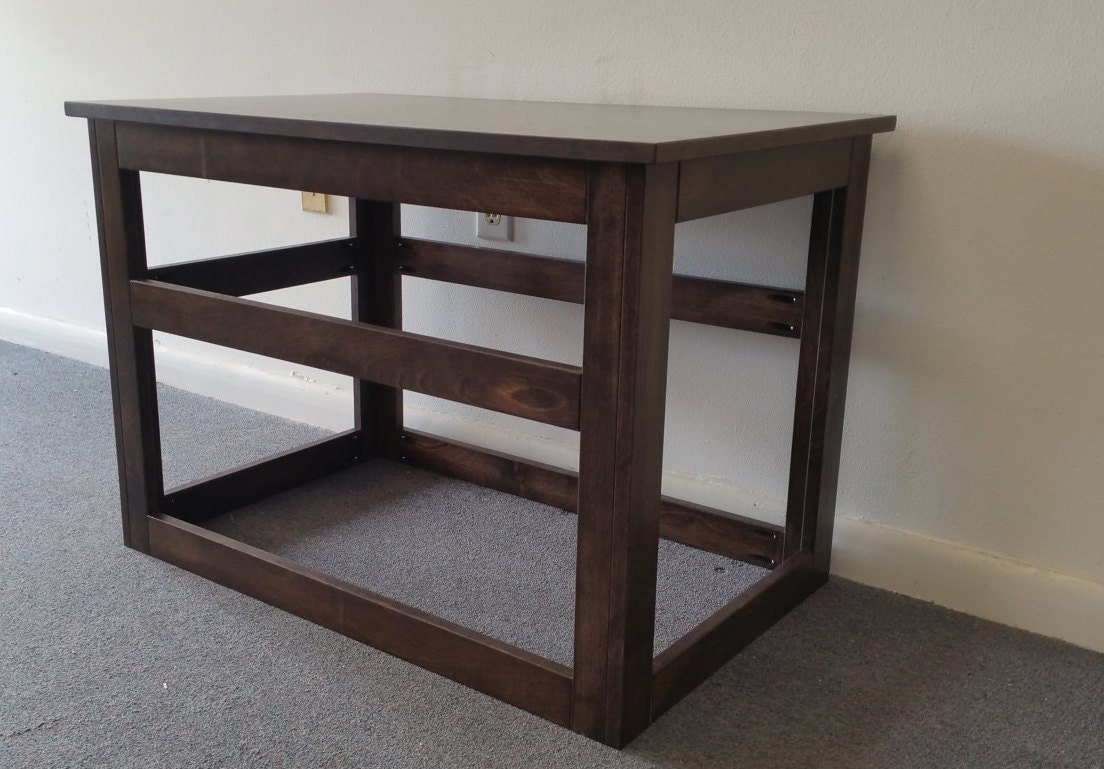 Large wooden cover for wire crate for dog or cat end table for Wooden crate end table