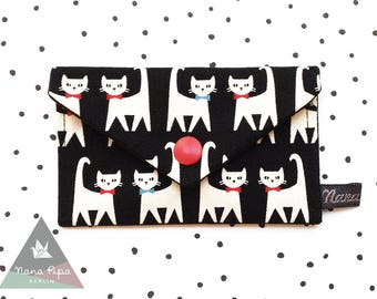 Business Cards Case / Credit Cards Case: Cats Black & White