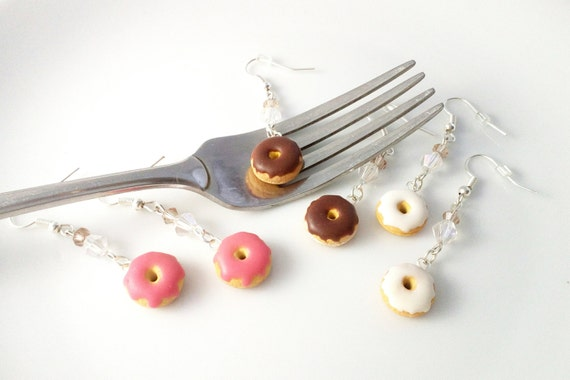Cute donut earrings