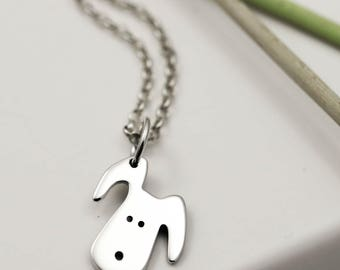 Sterling Silver Doggy Necklace - Dog Jewellery