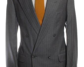 Vintage Coopers Regent Street Grey Pinstripe Suit 40 M - www.brickvintage.com