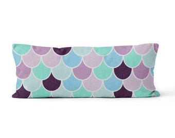 """Body Pillow Case, Body Pillow Cover, Mermaid Scale Body Pillow , Large Pillow Case 20""""x54"""""""