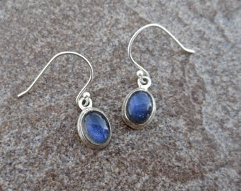 Blue Labradorite Earrings, Labradorite Jewelry, Wiccan Jewelry, Gemstone Earrings, Gift for Her