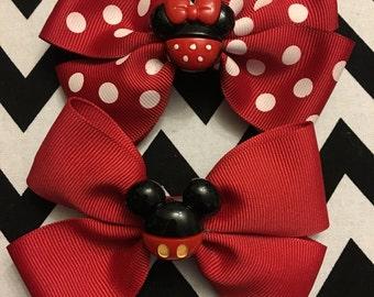 Minnie or Mickey Bow