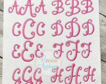 6 SIZES!!! Stylish Script Monogram Embroidery Font, Alphabet Font Digital Machine Embroidery Design embroidery font, elegant embroidery font