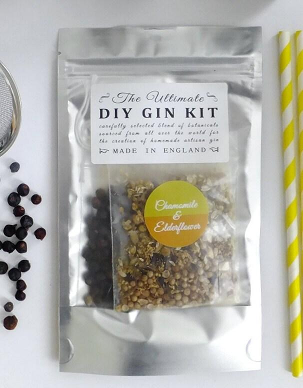 DIY Chamomile & Elderflower Gin Botanicals Kit Homemade gin