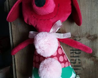 Darla the red velveteen doggie