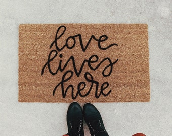 Love Lives Here Coir Doormat