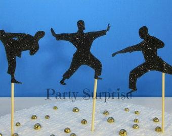 Karate Cupcake Toppers Karate Kong Fu Krav Magav Marshall arts Judo Cupcake Toppers