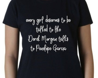 Criminal Minds Derek Morgan Penelope Garcia tee