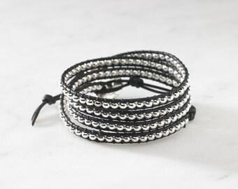Silver 4 Wrap Bracelet