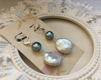 AA+ Freshwater Baroque Pearl Earrings