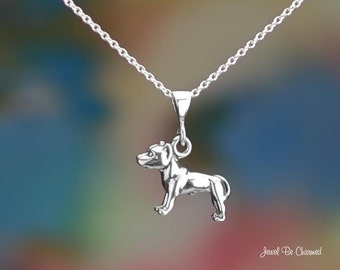 Sterling Silver Pit Bull Necklace or Pendant Only Pitbull Terrier .925