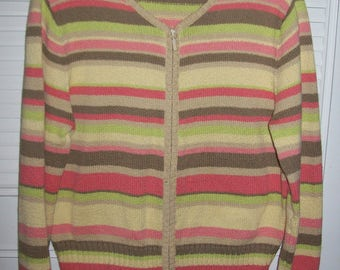 Vintage Talbot's Scrumptious Pastel Cardigan Sweater Size XL  see details
