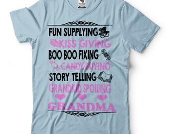 Grandmother T-Shirt Gift For Grandma Funny Nana Granny Tee Shirt
