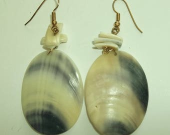Vintage Shell Earring. Dangling large