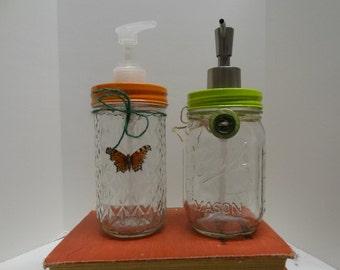 Set of 2 Mason Jar Soap Dispensers